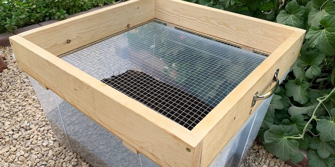 How To Make A Diy Compost Sifter